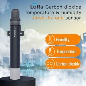 Image 2 - NDIR CO2 Rilevatore di Gas di Biossido di Carbonio Data logger Wireless CO2 Lora Sensore di Qualità Dellaria Temperatura RH Meter 470/433/868/915MHZ