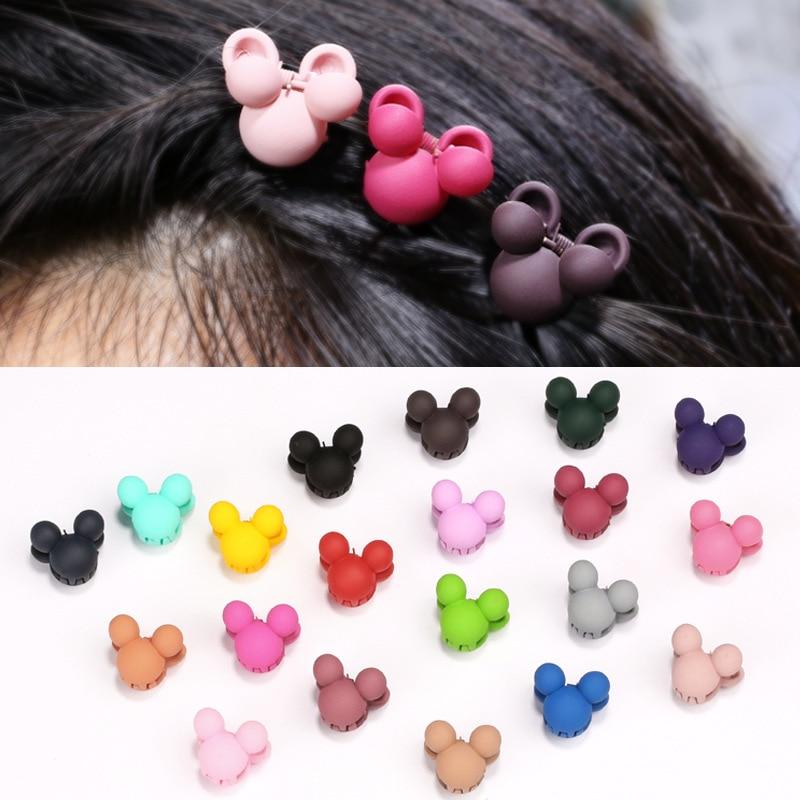20pcs/barrel Kids Novelty Flowers Cartoon Little Bear Crown Children Hairpins Hair Accessories For Girls Baby Crab Claws Clip