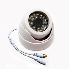 HD 1/3″ 600TVL Sony CCD IR Color CCTV Indoor Dome Security Camera 24 LEDs Day and Night