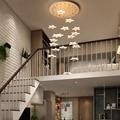 Современные светодиодные подвесные светильники ресторан Костюмы магазине украшения подвесные светильники вилла лобби повернуть лестница...