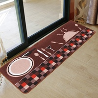 Printing Bbsorbent Non Slip Mats Kitchen Foyer Foot Pad Household Long Kitchen Floor Mats Fashion Rugs