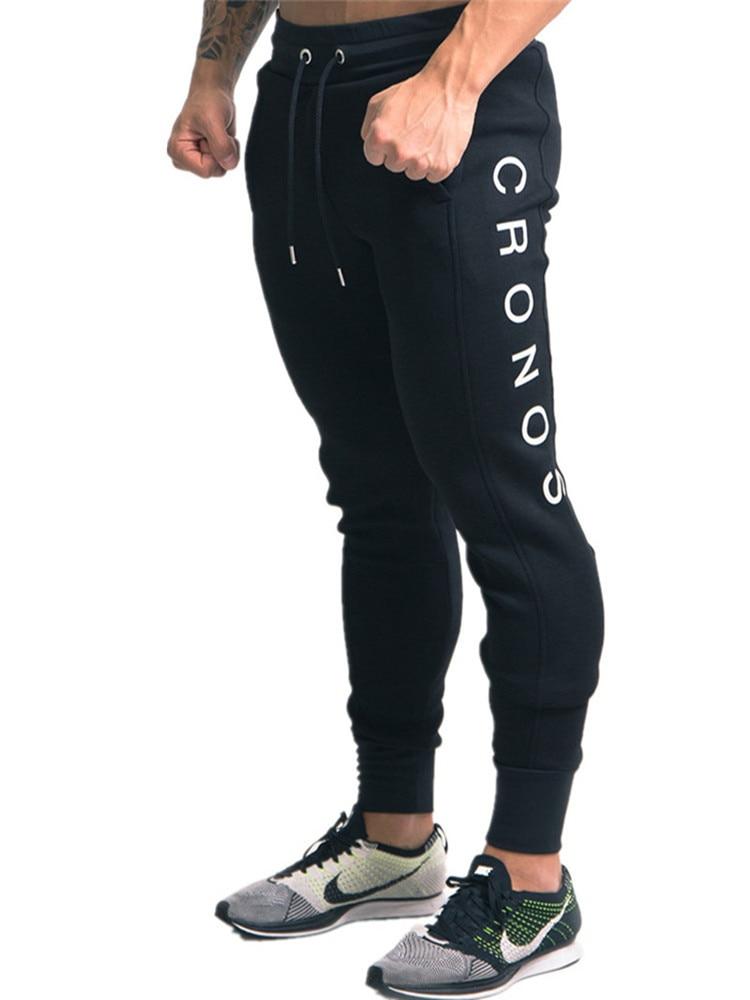 YEMEKE 2019 Elasticity Mens Joggers Pants Casual Fashion Bodybuilding Joggers Sweatpants Bottom Printing Pants Men Casual Pants-in Sweatpants from Men's Clothing