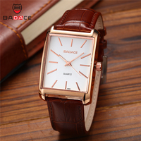 BADACE Leather Strap Men Watch Sport Business Hours Quartz Waterproof Clock Mens Watches Top Brand Luxury