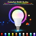 E27 RGB LED 3W 5W 7W 16 Color led rgb bulb Dimmable Lampada 110v 220v with remote controller rgb led lamp with memory