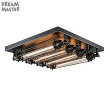 สีดำE27โคมไฟเพดานLoft VintageโคมไฟเพดานRetroการออกแบบอุตสาหกรรมEdisonหลอดไฟHome Bar Cafe Shopโคมไฟ