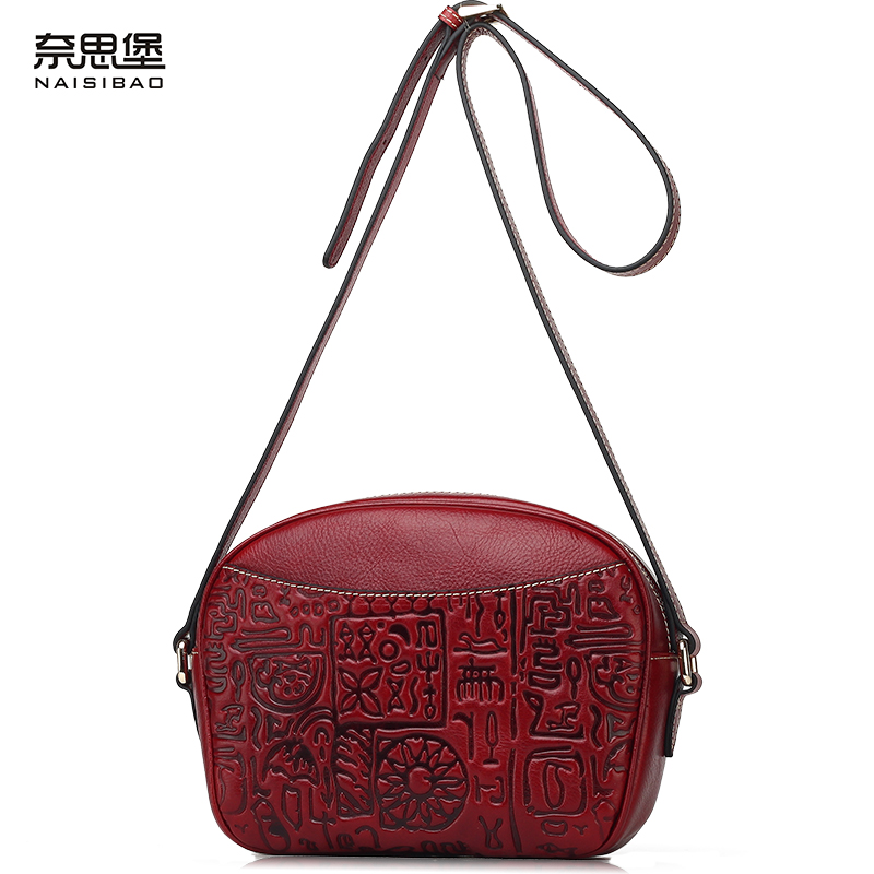 NAISIBAO Luxury Women Leather Handbag Messenger Bag Genuine Leather Shoulder Bags Fashion Designer Handbags crossbody for ladies худи print bar the walking dead
