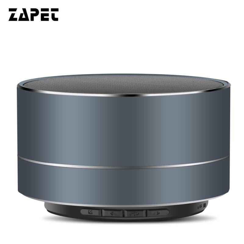 ZAPET Metallo Mini Subwoof Altoparlante Senza Fili di Bluetooth Handfree Musica ad Alta fedeltà Altoparlante altavoz caixa de som con IL MIC per telefono