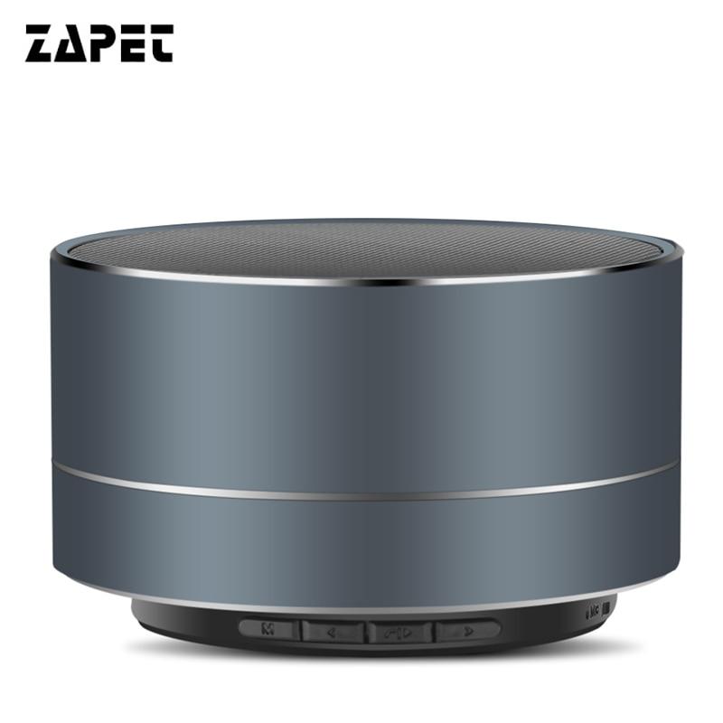 ZAPET Metal Mini Subwoof Bluetooth Speaker Wireless Handfree High-fidelity Music Speaker altavoz caixa de som with MIC for phone