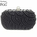 2 Sides Synthetic Pearls Women Shoulder Bags Vintage Evening Beaded Bags Pearl Bridal Party Clutches For Bride Clutch Handbags