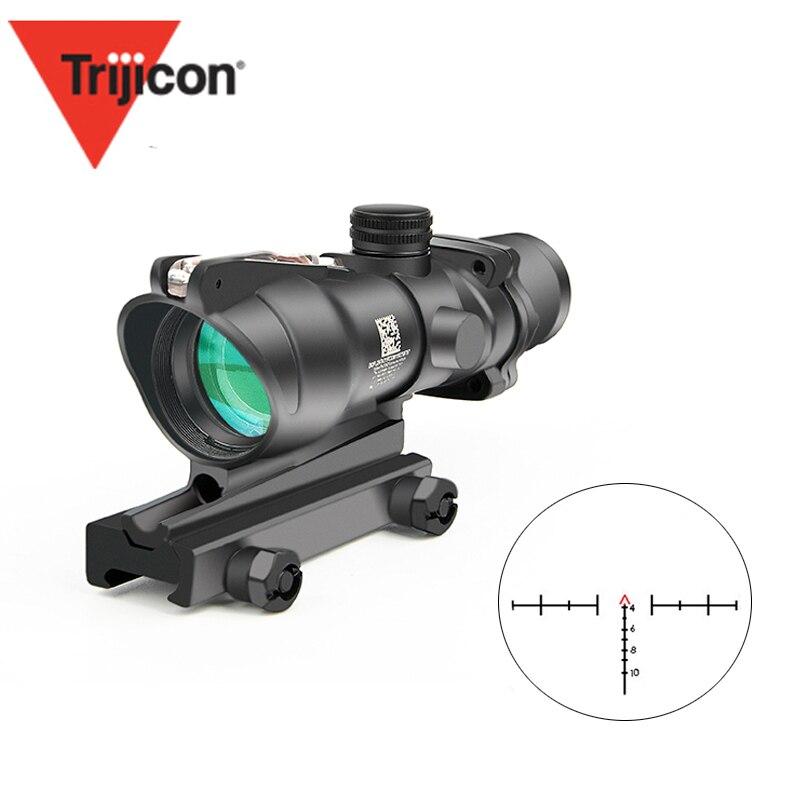 Trijicon nouvelle portée optique 4X32 ACOG avec vraie Fiber point rouge éclairé Chevron verre gravé réticule vue optique de chasse