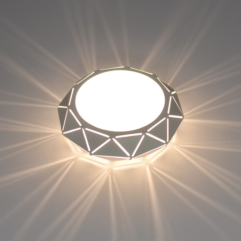 size 40 4dbfe 870da US $24.99  5W/12W LED Ceiling Light PC Iron Recessed Lighting Flush Mount  Lamp Modern Decor Corridor Bedroom Hallway White Shell-in Ceiling Lights ...