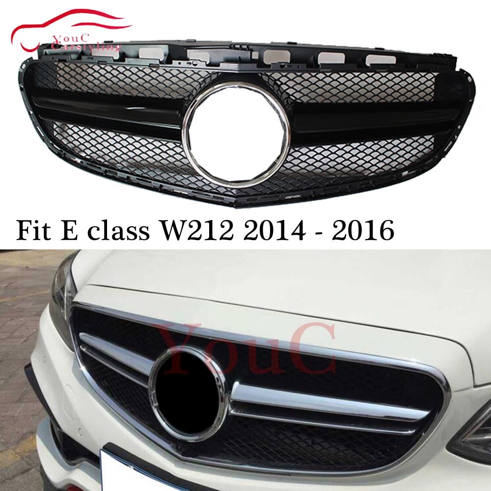 W212 AMG Grille pare-chocs avant Grille maille pour Mercedes classe E W212 4 portes berline 2013-2016 E200 E250 E300 E350 E400 noir argent