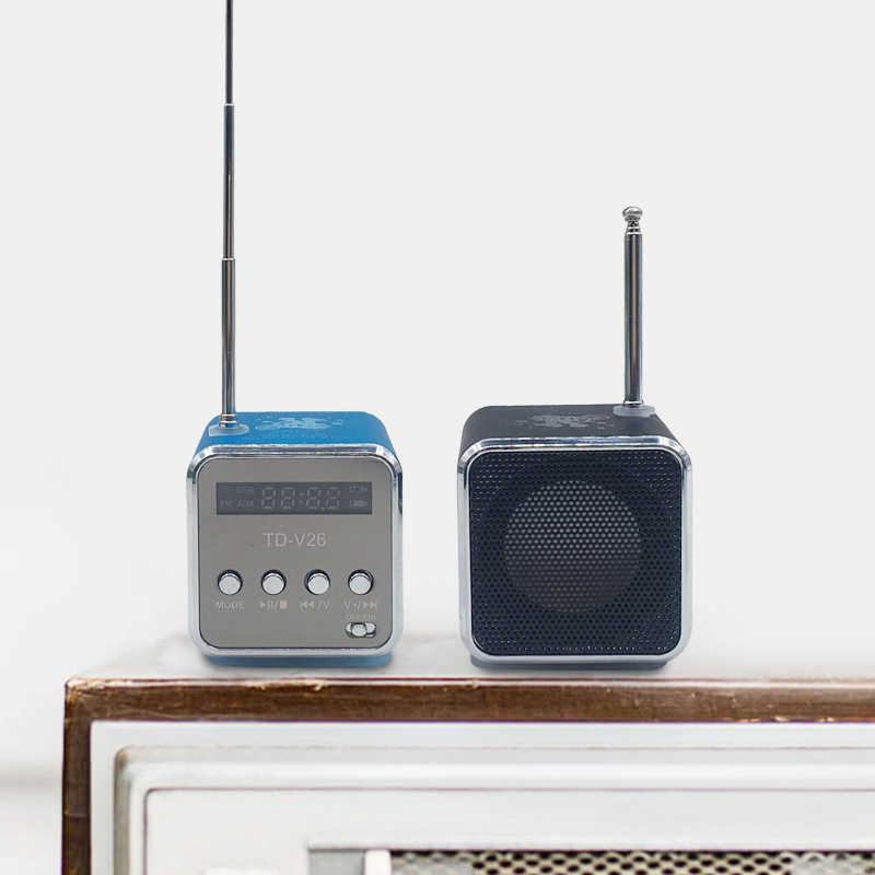 Di Động TD-V26 Kỹ Thuật Số FM Radio Loa Đài FM Đầu Thu Có Màn Hình LCD Loa Âm Thanh Nổi Hỗ Trợ Micro Thẻ TF Bán Buôn