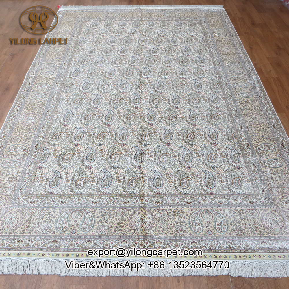 Yilong 6 5 X10 Turkish Orienal Hand Knotted Silk Rugs Handmade Carpet From Turkey