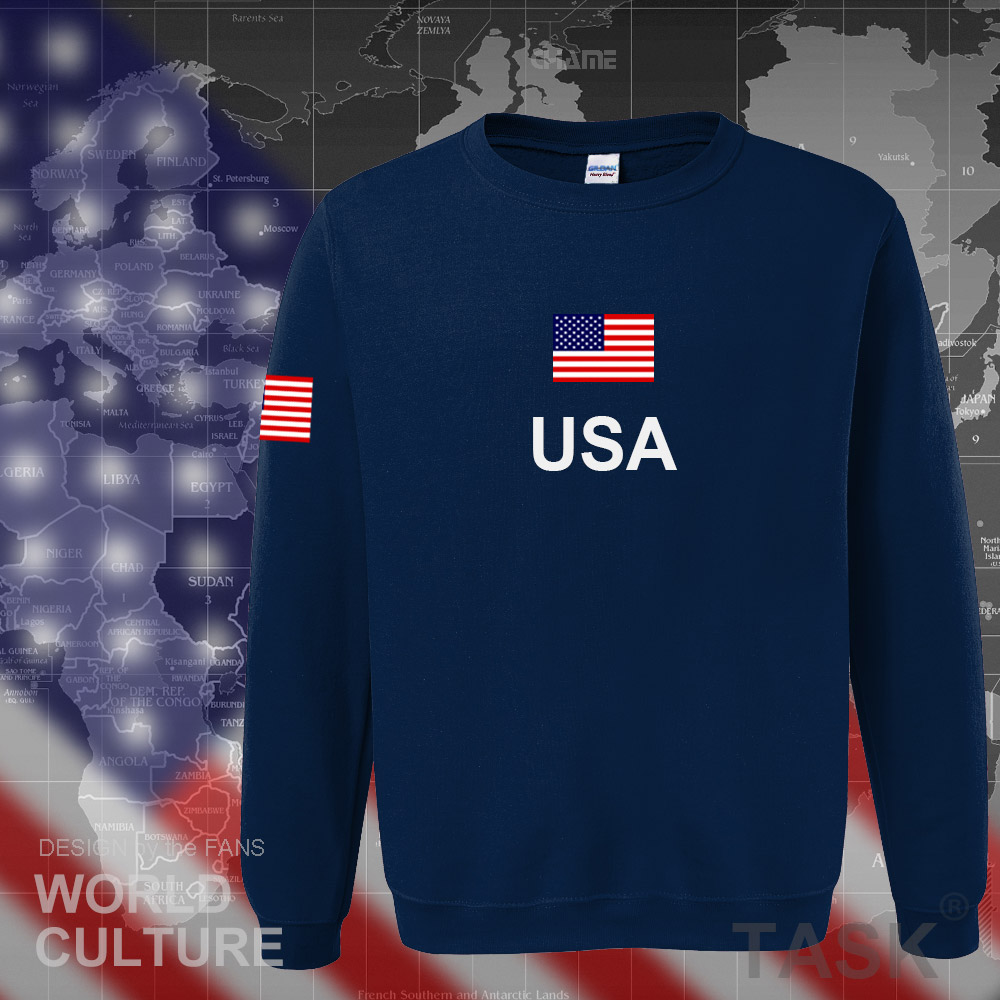 USA United States of America hoodies men 2017 sweatshirt sweat new hip hop streetwear American jerseys tracksuit nation flag US ...