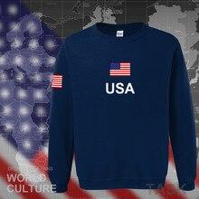 USA United States of America hoodies men 2017 sweatshirt sweat new hip hop streetwear American jerseys tracksuit nation flag US