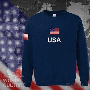 Image 1 - USA états unis damérique sweat à capuche pour homme 2017 sweat sweat nouveau hip hop streetwear américain maillots survêtement nation drapeau US