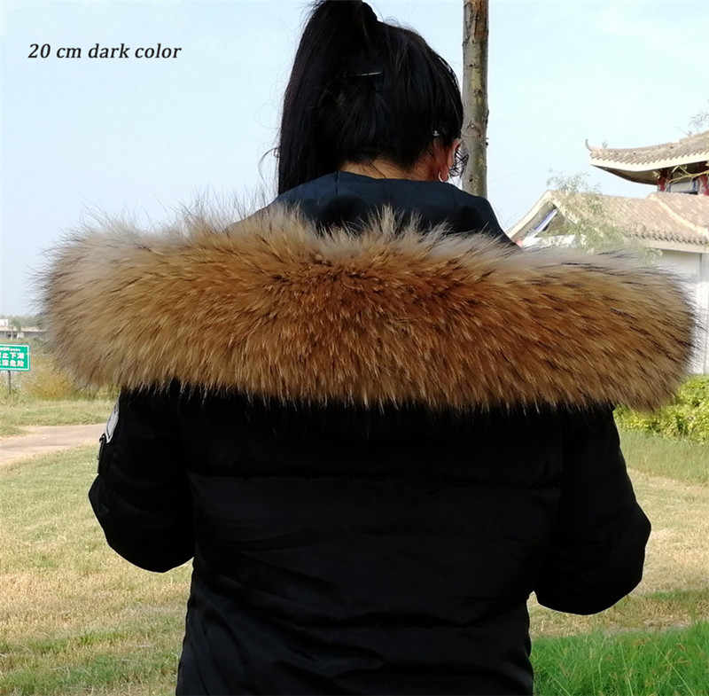 Thật Tự Nhiên Gấu Trúc Cổ Lông Nữ Gấu Trúc Lót Lông Thời Trang Cổ Áo Tự Nhiên Gấu Trúc Tóc Khăn Quàng Cổ Thời Trang Áo Len Khăn Quàng Khăn Choàng