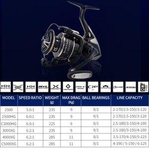 Image 3 - SHIMANO keep 2500 2500HG 3000XG c3000HG 40004000XG C5000XG بكرة صيد دوارة 8 + 1BB 6.0:1/6.2:1 X Ship بكرة دوارة دوارة
