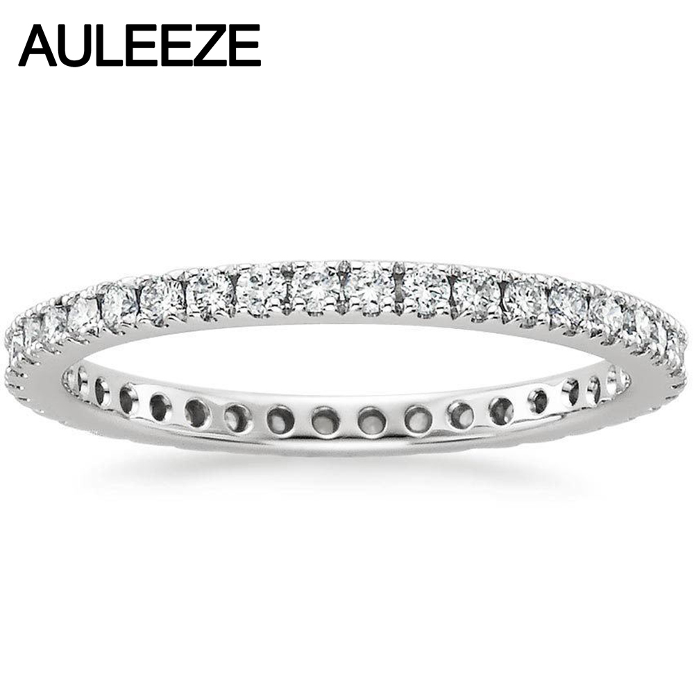 Настоящий бриллиант Bliss вечность помолвка обручальное кольцо натуральный ювелирные изделия с бриллиантами 14 К 585 Белое золото Свадебные об...