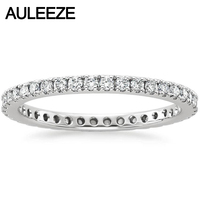 Real Diamond Bliss Eternity Engagement Wedding Band Natual Diamond Jewelry 14K 585 White Gold Wedding Engagement