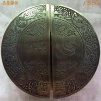 Frameloze glas deurklink deurklink deurklink Chinese antieke bronzen deur half hand