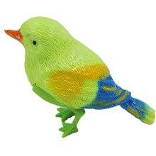 Игрушки для детей 1 шт. пластиковые звук Голосовое управление активация щебетание Поющая птица забавная игрушка подарок для детей