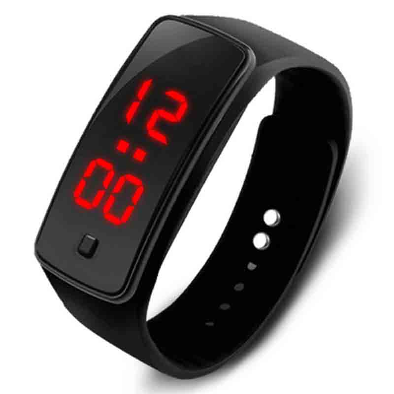 Excellent Quality 2017 New Digital watch Womens Mens Rubber LED Watch Date Sports Bracelet Digital Wrist Watch for gift Saat luxury mens womens rubber sports led