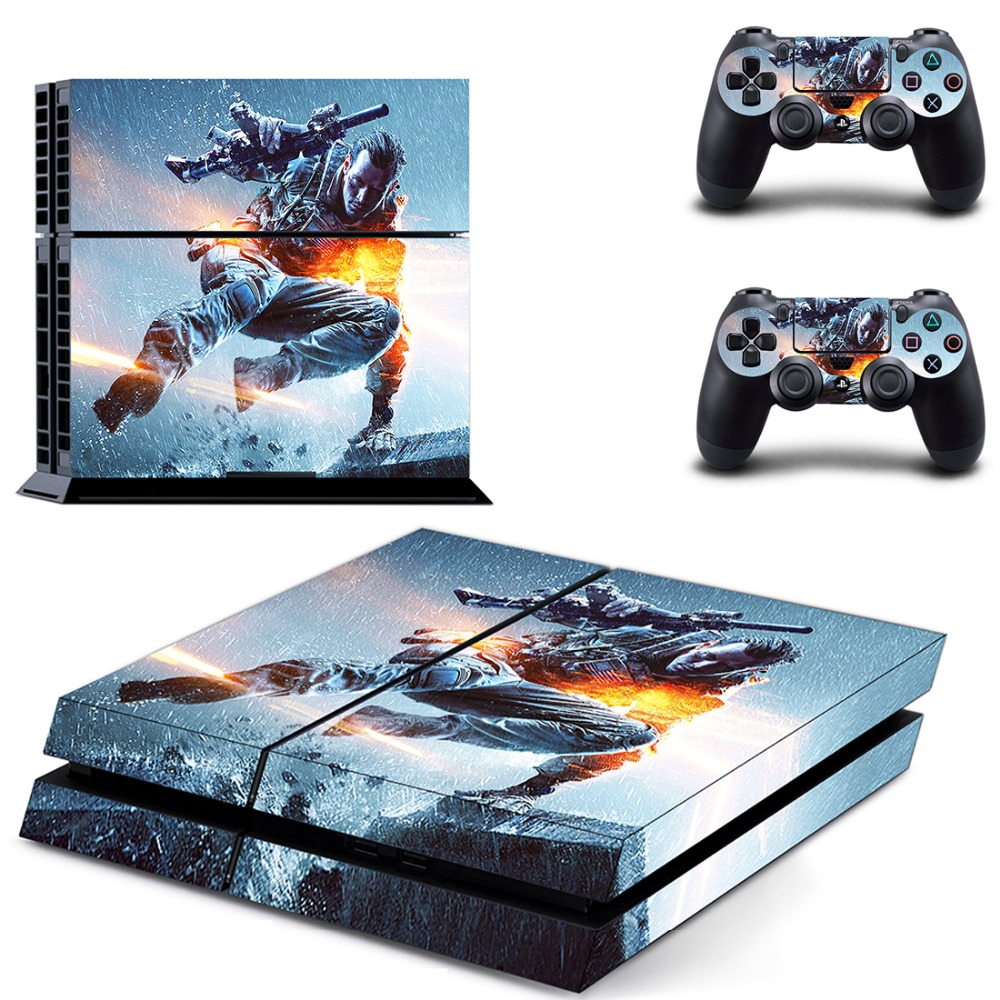 PS4 Call of Duty Sticker Vinyl Decal Protective Skin Cover for Sony PS4 Console And 2 Dualshock Controllers