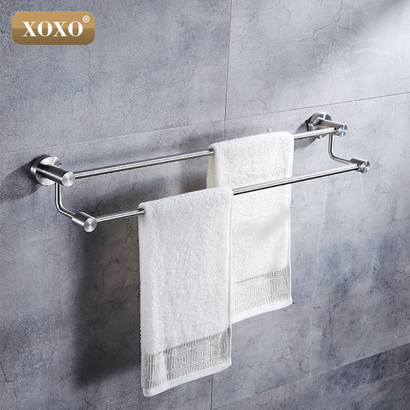 XOXOFree Shipping Double Towel Bar,Bathroom Proudcts Towel Holder,Towel Rack 304 Stainless Steel 4124D free shipping bathroom accessories products solid 304 stainless steel nickel brushed double towel bars towel holder sus003