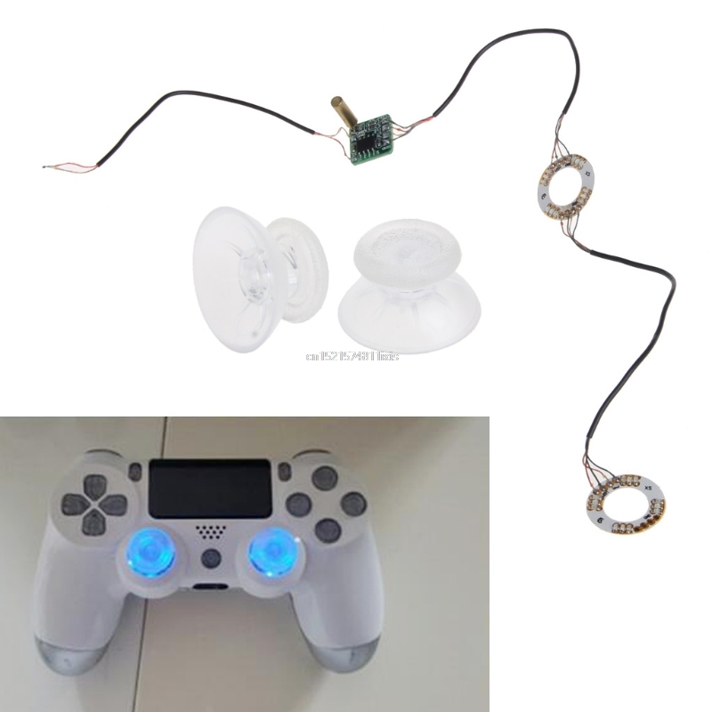 Analog Thumb Sticks Joystick Caps LED Light DIY For PS4 Platstation 4 Controller