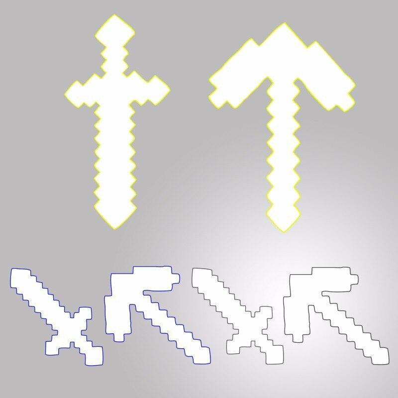 1pcs font b Minecraft b font Toys font b Minecraft b font Foam Diamond Sword Pickaxe