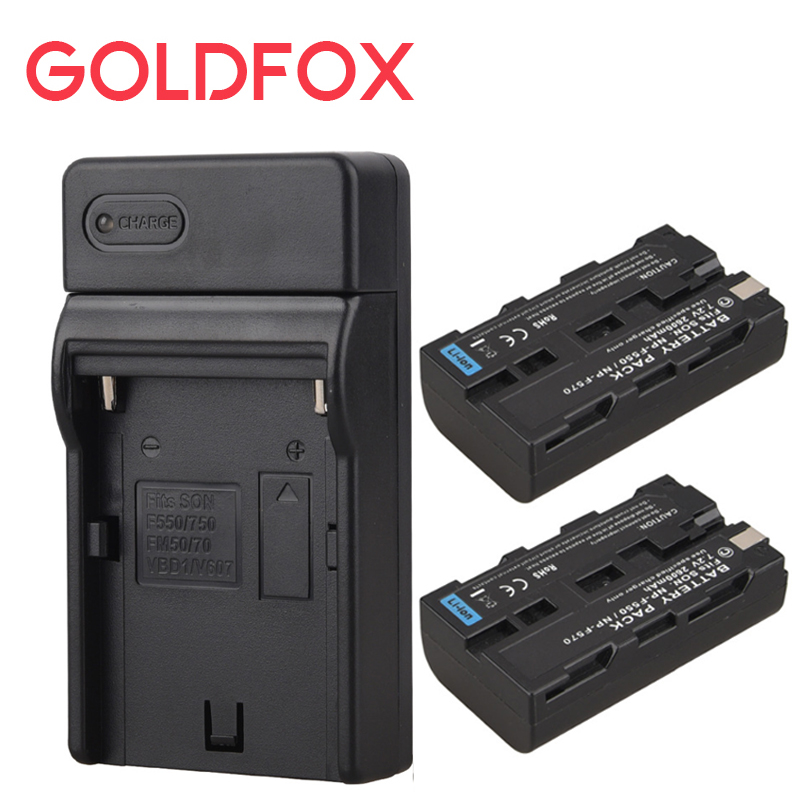 2x 2600mah NP F550 NP F570 Rechargeable Video Camera Batteria Pack For Sony NP-F550 NP-F570 Digital Battery Batteries + Charger np f960 f970 6600mah battery for np f930 f950 f330 f550 f570 f750 f770 sony camera