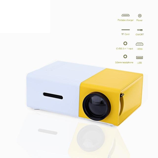 Design Mini Provável Projetor Concisa Compacto Eficiente YG-300 LCD Projeção 400-600 Mini ProyectorTheater Home Media Player