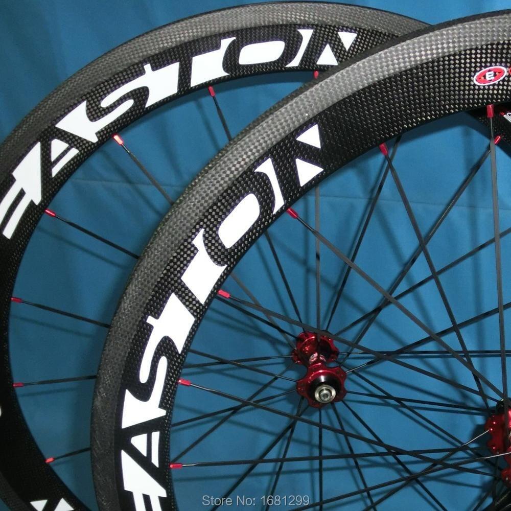 Le plus nouveau 700C 50mm pneu jantes vélo de route 3 K UD 12 K pleine fibre de carbone vélo roues V frein 20.5 23 25mm largeur livraison gratuite