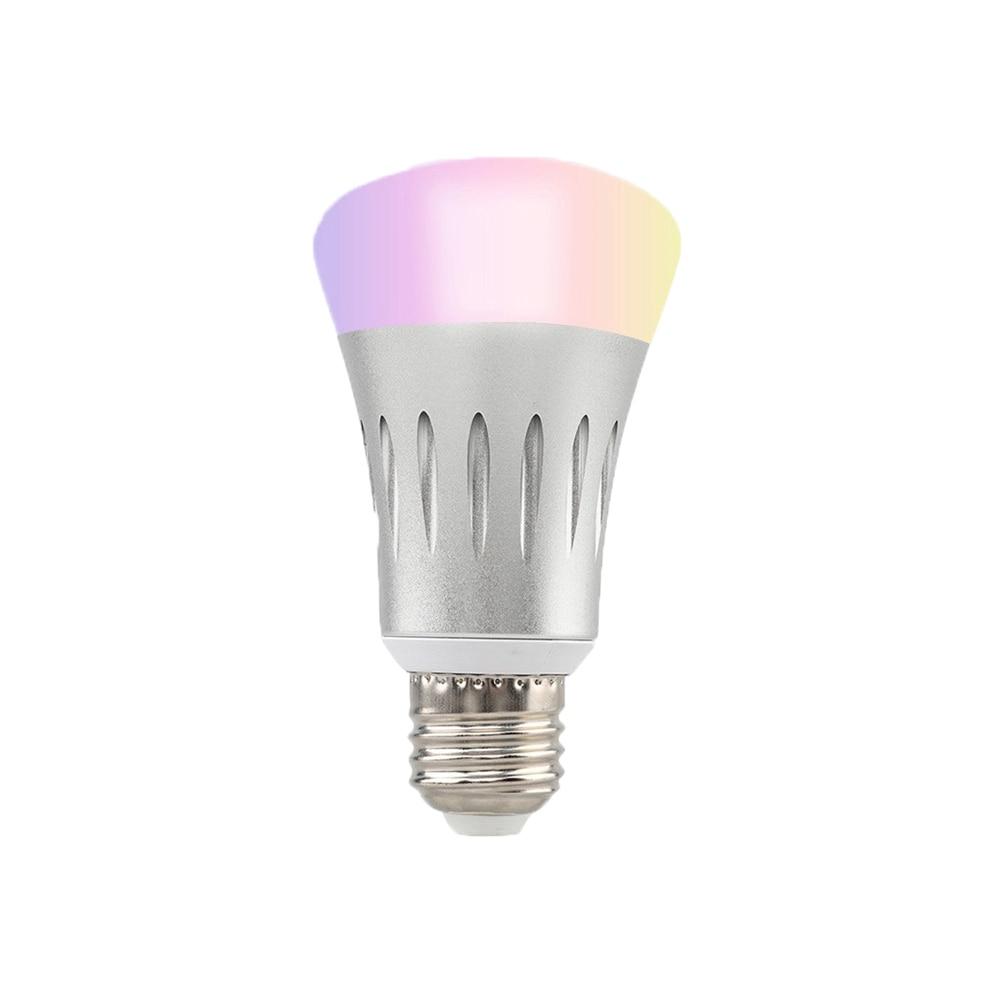 E27 E26 E14 B22 Smart WIFI LED Bulb Light Remote Control Work With Amazon Alexa&Google Home RGBW AC85 265V 7W LED Bulb Lamps