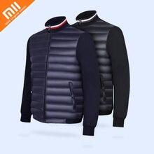 Оригинальный xiaomi mijia Qihao пуховая стеганая куртка 90% белый гусиный пух вязаная стеганая куртка мужская зимняя теплая пуховая куртка Горячая