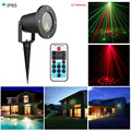 Christmas Laser Lights Landscape Outdoor IR Remote Red Green Show 12 Patterns IP65 Waterproof Laser Xmas Tree Garden Light