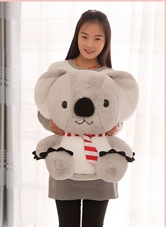 big new plush cartoon koala toy high quality stuffed gray koala doll gift about 50cm the huge lovely hippo toy plush doll cartoon hippo doll gift toy about 160cm pink