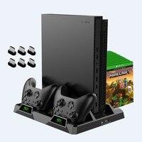 OIVO двойной контроллер зарядная станция для Xbox ONE S X игр зарядная док-станция охлаждения вертикальная подставка зарядное устройство для Xbox ONE...
