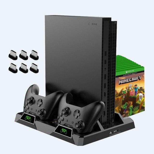 OIVO estación de carga de Doble controlador para Xbox ONE S X, base de carga de juegos, soporte Vertical de enfriamiento, cargador para consola Xbox ONE/S/X