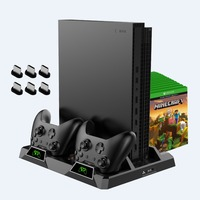 Tüketici Elektroniği'ten Standlar'de OIVO Çift Denetleyici şarj istasyonu Için Xbox ONE S X Oyunları şarj standı Soğutma dikey stant Xbox ONE için Şarj/S/ X Konsolu