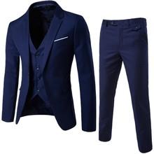 MarKyi 2017 nouveau plus la taille 6xl hommes costumes de mariage marié de bonne qualité casual male costumes 3 peiece (veste + pantalon + gilet)