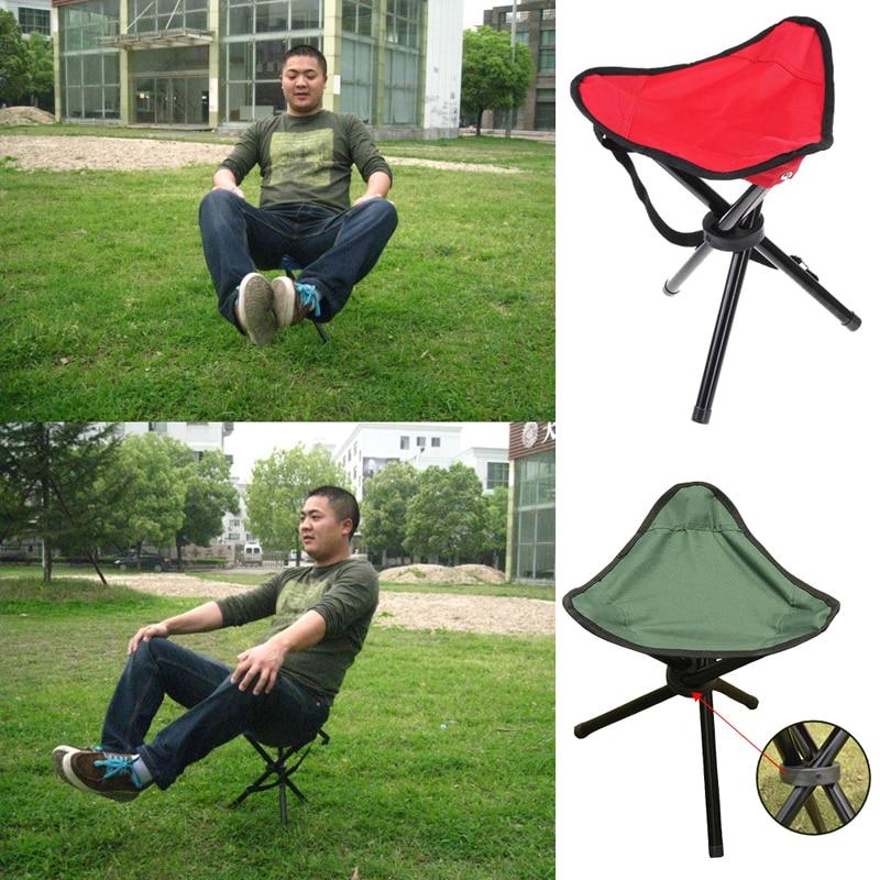 Camping Outdoor Tripod Folding Stool Chair Fold Fishing