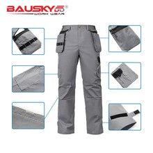 1625772bbc8 Bauskydd 2018 nueva llegada del verano para hombre ligero Durable tela fina  pantalones de trabajo con