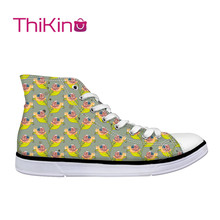 Thikin Cute Snail Pattern High Top Canvas Casual Shoes for Teenager Popular Women Dog Sneaker Lovers
