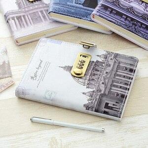 Image 5 - Nowy osobisty pamiętnik notatnik z kodem blokady biznes A5 gruby notatnik codzienne notatki biuro szkolne prezent