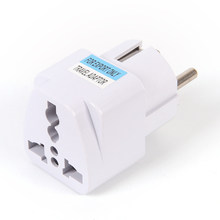 Universal US UK AU To EU Plug USA To Euro Europe Travel Wall AC Power Charger Outlet Adapter Converter 2 Round Pin(China)