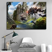 1 Piece Canvas Printing Type Game Poster Modern Home Decorative Wall Artwork Aloy Shooting Robot Horizon Zero Dawn Painting