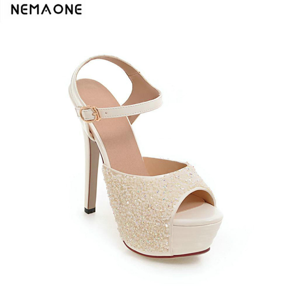 New high heels platform sandals women sexy women sandals party wedding shoes woman thin high heel club dancing shoes summer platform wedges party shoes for woman extreme high heels sexy wedding shoes woman comfort female shoes heel